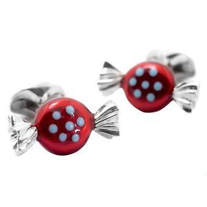【送料無料】メンズアクセサリ― ディーキンフランシスシルバーエナメルラウンドレッドポルカドットキャンディカフリンクスdeakin and francis silver amp; enamel round red polka dot sweet cufflinks candy