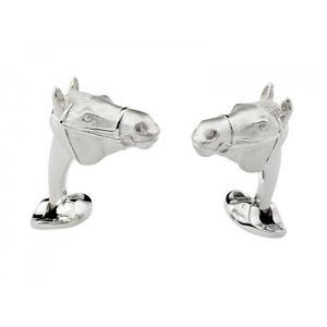 【送料無料】メンズアクセサリ― ディーキンフランシススターリングシルバーヘッドカフスボタンヘッドdeakin and francis sterling silver horses head cufflinks horse head