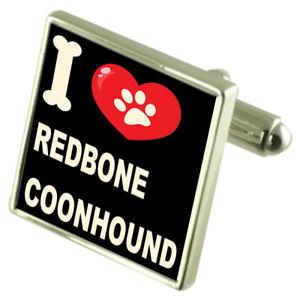 【送料無料】メンズアクセサリ― シルバーカフスボタンマネークリップsilver 925 cufflinks amp; bond money clip i love redbone coonhound