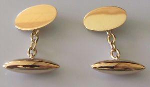 【送料無料】メンズアクセサリ― ヴィンテージイエローゴールドオーバルチェーンリンクカフスボタンvintage 15ct yellow gold oval torpedo chain link cufflinks