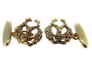 【送料無料】メンズアクセサリ― ゴールドゴードンメンズカフスボタン 9ct gold gordon highlanders mens cufflinks made to order excellent quality