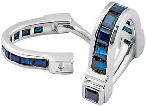 【送料無料】メンズアクセサリ― ノーマンスターリングシルバーサファイアラップアラウンドカフリンクスari d norman sterling silver amp; sapphires wrap around cuff links hallmark