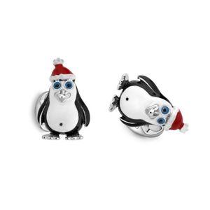 【送料無料】メンズアクセサリ― スターリングシルバークリスマスペンギンカフリンクスsterling silver christmas penguin cufflinks