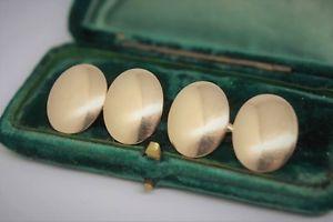 【送料無料】メンズアクセサリ― ヴィンテージゴールドアールデコカフリンクスvintage 15ct gold art deco cufflinks made in 1921 engravable 1496g g106