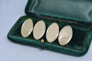 【送料無料】メンズアクセサリ― ヴィンテージゴールドメンズカフスボタンアールデコデザインvintage 9ct gold mens cufflinks with an art deco design 1279g g32