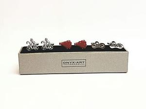 【送料無料】メンズアクセサリ― サイクリストカフスボタンセットset of 3 cyclist cufflinks gift set