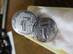 【送料無料】メンズアクセサリ― ビンテージジュエリーコルフシルバーパルテノン?カフリンクスvintage 60s mag jewelry corfu 925 silver parthenon cufflinks