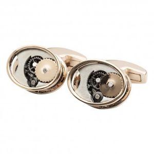 【送料無料】メンズアクセサリ― ローズゴールドギアカフリンクスrose gold gears cufflinks