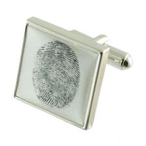 【送料無料】メンズアクセサリ― パーソナライズカフリンクスpersonalised cufflinks make your own fingerprint