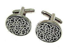 【送料無料】メンズアクセサリ― カフスボタンセルティックデザインwedding cufflinks celtic design boxed silver cufflnks
