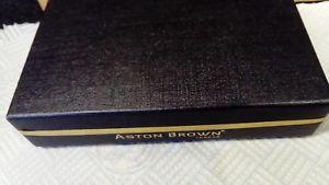 【送料無料】メンズアクセサリ― アストンブラウンロンドンカフリンクスペンキーリングセットaston brown london gentlemans set with cufflinks, lovely pen and keyring