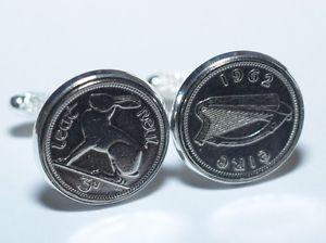 【送料無料】メンズアクセサリ― アイルランドコインカフリンクス50th birthday irish threepence coin cufflinks