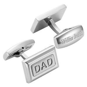 【送料無料】メンズアクセサリ― ウィリスジャッドメンズステンレスポーチカフリンクスwillis judd men's dad stainless steel cufflinks with gift pouch