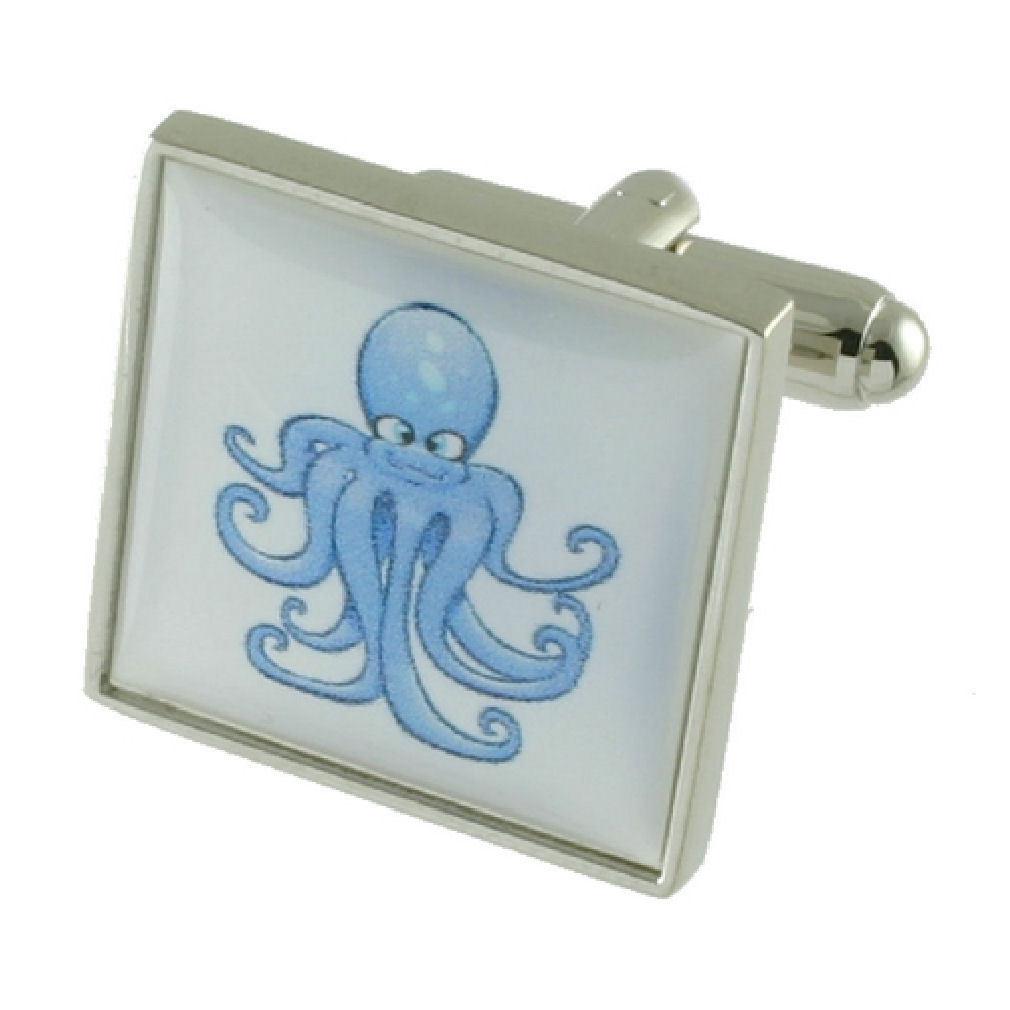 【送料無料】メンズアクセサリ― カフリンクスタコボックスオンcuff links octopus engraved personalised box