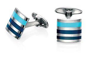 【送料無料】メンズアクセサリ― フレッドベネットステンレスメンズストライプエナメルカフリンクスfred bennett stainless steel mens v468 striped enamel cufflinks