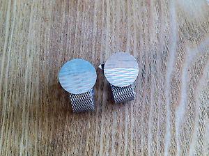 【送料無料】メンズアクセサリ― ビンテージラップアラウンドカフリンクデザインvintage wraparound cuff links silvertone nice design