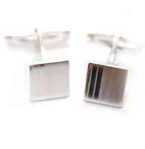 【送料無料】メンズアクセサリ― リアルシルバーカフスボタンreal silver cufflinks  rrp 45