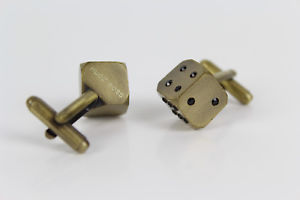【送料無料】メンズアクセサリ― ヒューゴボスカフリンクスサイコロhugo boss cufflinks dice with stones brass rare