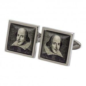 【送料無料】メンズアクセサリ― ウィリアムシェークスピアカフリンクスwilliam shakespeare portrait cufflinks