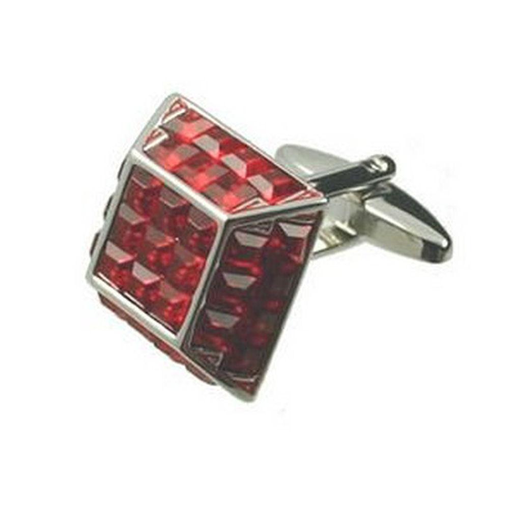 【送料無料】メンズアクセサリ― カフリンクスカフリンクスピラミッドレッドクリスタルボックスオンcuff links bold cufflinks pyramid red crystal bling engraved personalised box