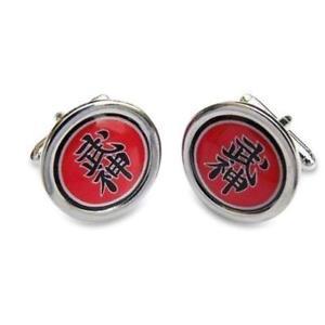 【送料無料】メンズアクセサリ― ロゴカフリンクスbujinkan logo cufflinks