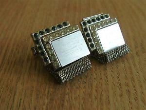 【送料無料】メンズアクセサリ― ビンテージラップアラウンドメッシュカフスボタンvery individual vintage wraparound mesh cufflinks silvertone
