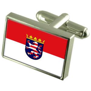 【送料無料】メンズアクセサリ― ヘッセンヘッセンフラグカフスボタンパーソナライズhesse hessen state flag cufflinks personalised engraved keepsake box