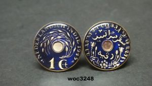 【送料無料】メンズアクセサリ― オランダインドコインセントカフリンクス1945 netherlands east indies coin cufflinks cent 23mm