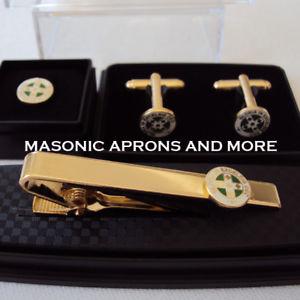 【送料無料】メンズアクセサリ― スコットランドメッキタイクリップカフリンクロイヤルオーダータイピンセットroyal order of scotland gold plated tie clip, cufflinks amp;tie pin set boxed