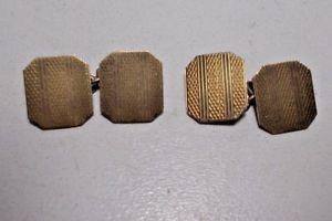 【送料無料】メンズアクセサリ― ヴィンテージカフリンクスアールデコスターリングシルバーゴールドvintage cuff links art deco hg amp; s sterling silver with 9 ct gold fronts