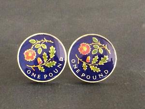 【送料無料】メンズアクセサリ― イングランドポンドコインカフリンクスローズオーク2013 uk floral emblems of england pound coin cufflinks rose and oak uncirculated