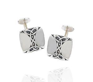 【送料無料】メンズアクセサリ― スターリングシルバースクエアセルティックノットカフスボタンカフリンク925 sterling silver square celtic knot cufflinks 925 cuff links