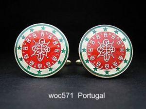 【送料無料】メンズアクセサリ― ポルトガルエナメルコインカフスボタンユーロドルportugal enameled coin cufflinks euro dollar 23mm