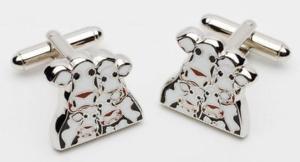 【送料無料】メンズアクセサリ― ノムヒョンカフスボタンキャロラインkids moo limited edition cufflinks by caroline shotton