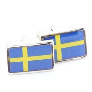 【送料無料】メンズアクセサリ― cufflinksフラグスウェーデンcufflinks flag sweden