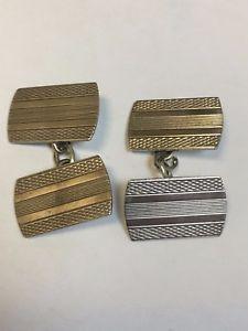 【送料無料】メンズアクセサリ― ビンテージスターリングシルバーカフスボタンチェスターvintage sterling silver patterned cufflinks chester 1935
