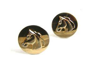 【送料無料】メンズアクセサリ― swank 102714ヴィンテージgoldtoneカフスリンクtrue vintage goldtone horse head cufflinks by swank 102714