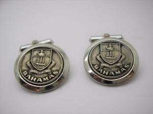 【送料無料】メンズアクセサリ― bmcoヴィンテージスターリングバハマカフスリンクvintage sterling silver bahamas cufflinks by bmco