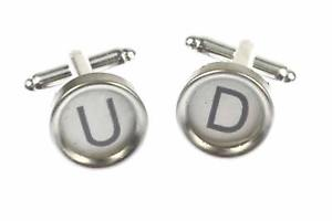 【送料無料】メンズアクセサリ― カフリンクスタイプライターキー?wunschbuchstaben cuff links typewriter keys miniblings white m