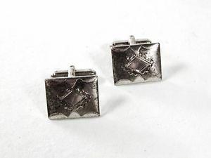 【送料無料】メンズアクセサリ― ビンテージスターリングシルバーカフリンクスvintage sterling silver cufflinks by p amp; k 51916