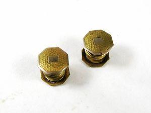 【送料無料】メンズアクセサリ― アールデコスナップトーンカフスボタンart deco snap brassy tone cufflinks by haa amp; co flexco 72116