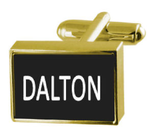 【送料無料】メンズアクセサリ― ボックスカフリンクスダルトンengraved box goldtone cufflinks name dalton
