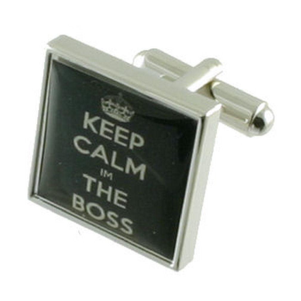 【送料無料】メンズアクセサリ― ボスカフリンクスマネージャカフスボタンテキストboss cufflinks manager cufflinks keep calm text engraved personalised box