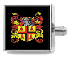 【送料無料】メンズアクセサリ― ドラムアイルランドカフスリンクケースdrum ireland family crest surname coat of arms cufflinks personalised case