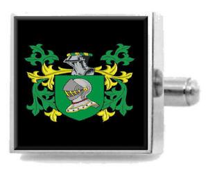 【送料無料】メンズアクセサリ― nalleカフスリンクケースnalle england family crest surname coat of arms cufflinks personalised case