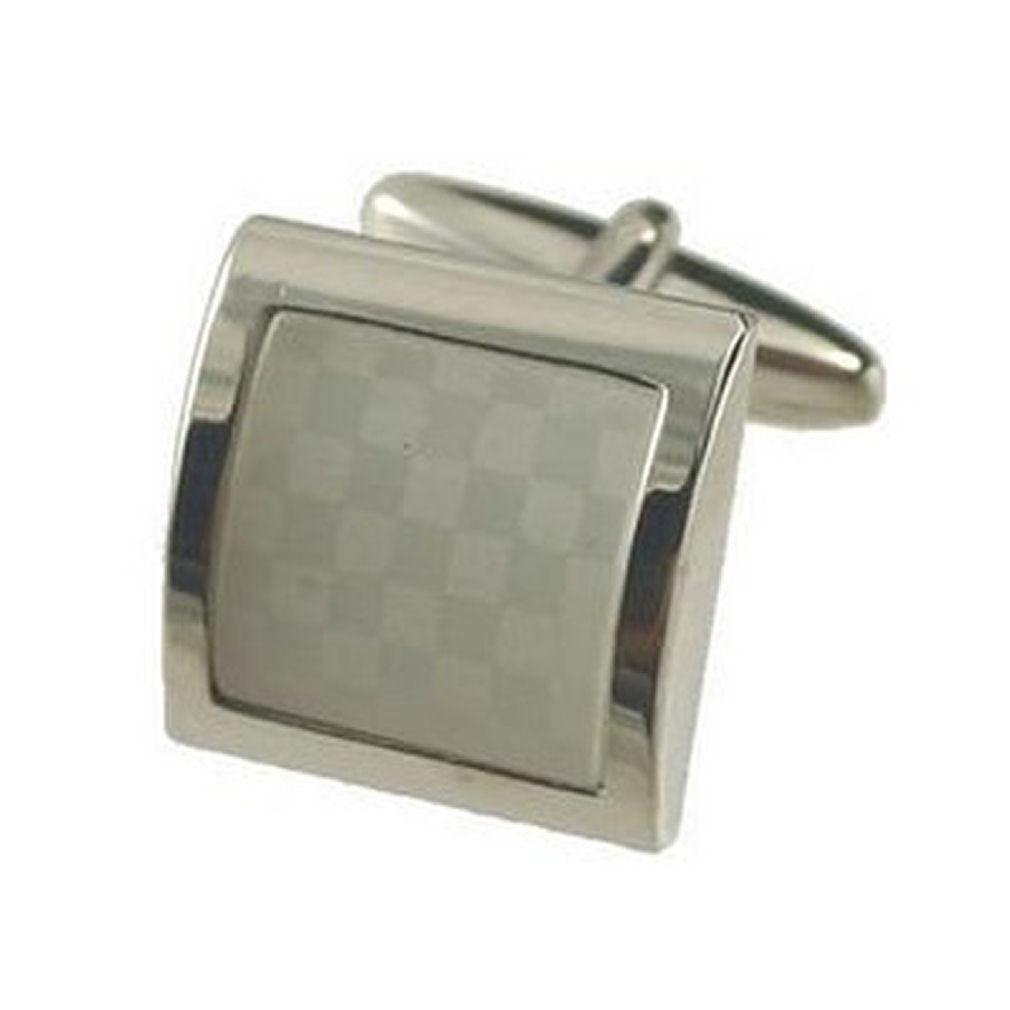 【送料無料】メンズアクセサリ― カフリンクスファッションカフスボタンボックスオンcuff links fashion white cufflinks~chessbord white engraved personalised box