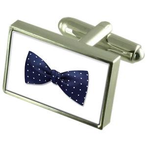 【送料無料】メンズアクセサリ― ボウタイカフスボタンメッセージボックスbow tie cufflinks engraved message box