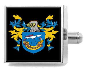【送料無料】メンズアクセサリ― イギリスカフリンクスパーソナライズケースコートtimms england family crest surname coat of arms cufflinks personalised case