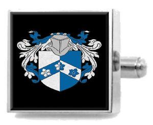 【送料無料】メンズアクセサリ― アレンアイルランドアームカフリンクスパーソナライズケースコートallen ireland family crest surname coat of arms cufflinks personalised case