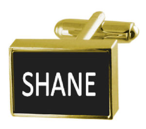 【送料無料】メンズアクセサリ― カフスリンク シェーンengraved box goldtone cufflinks name shane